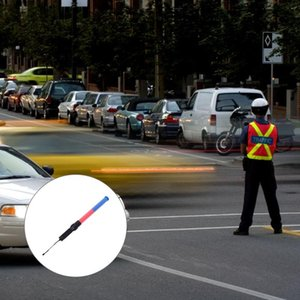 Flashlights Torches 2pcs Red And Blue Light Traffic Wand LED Safety For Control Parking Guide