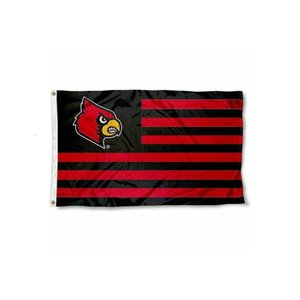Flag University Of Louisville Cardinals Nation Flag NCAA 3x5FT Double Stitched Decoration Banner 90x150cm Sports DigitalDSCF