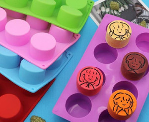 Pudín de silicona Molde Pasteles Pastelería Horneado Cubierta Redonda Jabón Gummy Soap Mini Muffin Mousse Torta Decoración Herramientas Pan Biscuit Molde