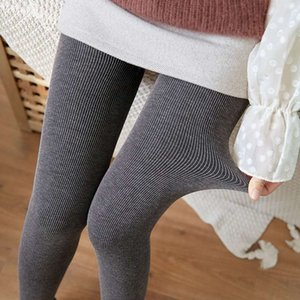 2021Vertical stripe high waist bottom pants clothes for women in autumn and winter plus size yoga black tights leggings Free shipping