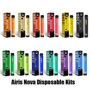 Authentic Airis Nova Disposable Device Kit 2300 Puff 1250mAh Battery 7ml Prefilled Pod Vape Pen Original VS Bar Plus XXL 100% Original
