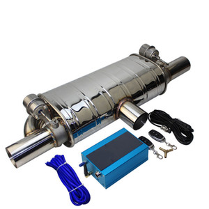 Muffler Tip Vacuum pump Variable Valve Exhaust Remote control T shape One in two out 63MM Car Universal Stainless steel Valves