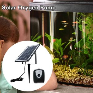 Solar Cell Aerator Air Pump, 3.5w Solar Aerator, Garden Pool, Fountain Pool and Rechargeable Stone Oxygen Pump for Aquarium