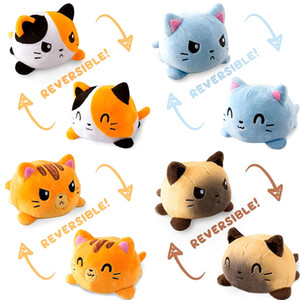 Creative Reversible Flip Cat Plush Doll Plush Stuffed Toy Soft Home Accessories Cute Animal Children Gift Plush Toy
