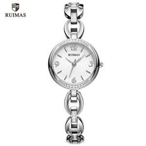 2021 Ruimas Quartz Relógios Mulheres Pulseira De Prata Elegante Relógio Relógio Mulher Lady Watch Relogio Relojes de Lujo Para Mujeres 596