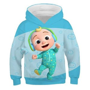 4-14Y Kids Boys Girls Cartoon Hoodies Tiktok Cocomelon JJ Family Long Sleeve Hooded Sweater Sweat Shirt Autumn Sports Outdoor Casual Pullover Tops Clothing G77DJVF