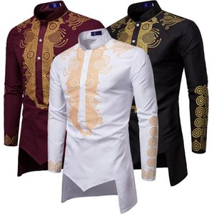 Hombres Moda África Ropa Largo Jerseys Vestido africano Ropa Hip Hop Robe Africaine Casual World Appar