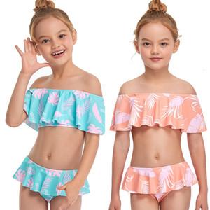 Costume da bagno per bambini Bikini Bambino Ragazze Bambino Bagno Costume da bagno Bambini fusi per bambini RashGard 2021 Nuova gonna Broken Swimwear Girl QMIb