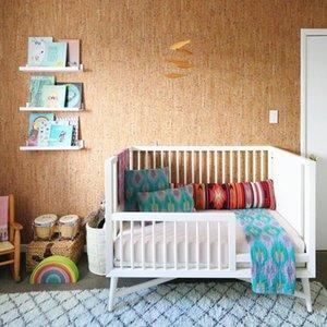 MyWind Ücretsiz Örnek Yeni 2021 Yeni Tasarım Kahverengi Mantar Duvar Kağıdı Modern Doku Ev Dekor Duvar Kaplama