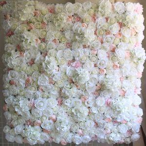 Panel Black Friday 40x60cm Artificial Silk Flower Wall White Flowers Hydrangea Decoration Wedding Party Backdrop Decor 12pcs lo