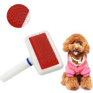 Щенок щетка для волос Cat Dog Grooming Pet Grooming Brush Soft Smicker для собак Быстрые чистые инструменты W0057