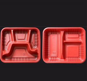 Tek kullanımlık konteynerleri alın öğle yemeği kutusu mikrodalga edilebilir malzemeler 3 veya 4 lids wwa170