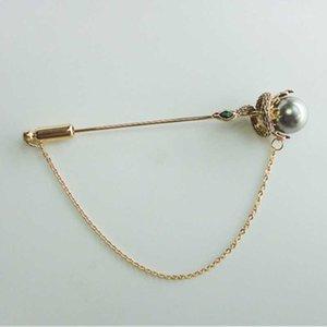 Hecho a mano Mujer Broche Pin Color-Chapado en color Perla Natural Serpiente Academic Slytherin Broche Pin Hombres Collar Bufanda Accesorios1