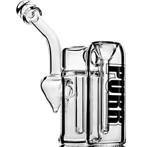 Double Chamber Bubbler Pipe Clear Mini Glass glass