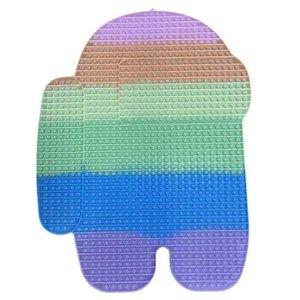 Super Большой 85 см Радуга Сенсорные Пузыри Поппера Доска POST POP FIDGET Игрушки Mega Jumbo Огромные Размер Unicron Butterfly Мороженое Puzzle Продажа G72V