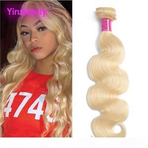 Brazilian Peruvian Indian Virgin Hair 613# Blonde Body Wave Human Hair Bundles 613# Light Color 95-105g piece Full Remy Hair Weaves