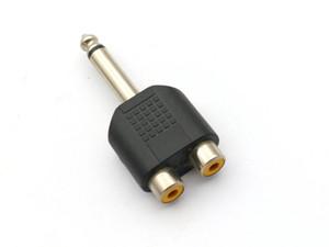 50pcs 6.35mm (1/4 pouce) Bouchon mono à 2 connecteurs de séparateur de jack RCA