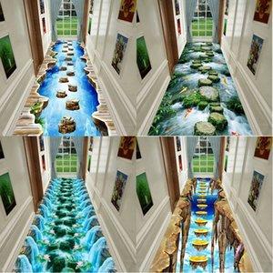 3D Eğlenceli Macera Koridor Mat Yatak Odası Mutfak Kilim Çocuk Odası Dekoratif Oyun Mat Alan Halı Pastoral Halılar Oturma Odası için 55 S2