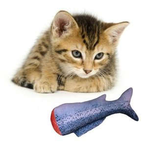 20CM Pet Cats Dogs Catnip Fish Plush Chew Toys Simulation Delicious Kitten Interactive Soft Playing Scratch-resistant Toy YHM830