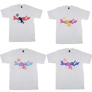 4 стилей Мужские футболки High Street Fla Joy X Pian Sicko Женская футболка IAN CONNOR Ретро с коротким рукавом свободная повседневная одежда