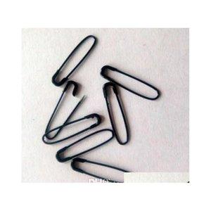 1000 PCS Black Hang Tag Pin di sicurezza in AD Shaped, Coilless Style e non SNA JllhjQ Home003