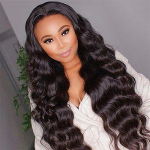 Hot Popular Body Wave 360 Lace Wig Human Hair Pre Plucked Hairline Remy Hair 130%~180%Density Natural Color For Black Women Brazilian Indian