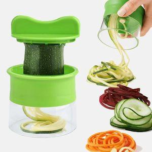 Handheld Carrot Potato Cucumber Spiral Grater Cutter Vegetable Fruit Slicer Salad Noodle Spaghetti Zucchini Blade Spiralizer GWB5470
