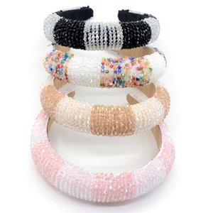 Shiny Crystal Headband Beaded Women Head Hoops Rhinestones Padded Headband Wedding Headdress Boutique Girl Hair Accessories 3265 Q2