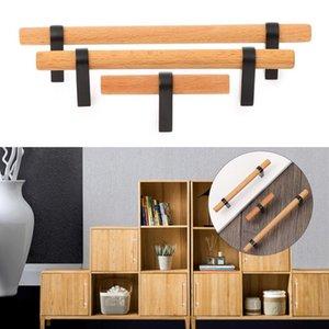 Handles & Pulls 1Set Zinc Alloy Door Handle Wood Knob Kitchen Cupboard Cabinet Wardrobe Drawer Modern Furniture Hardware Home Decor