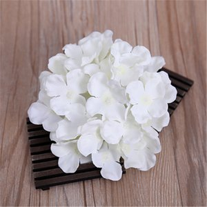 1pcs hydrangea flower heads silk artificial flowers wedding home party backdrop diy decoration panel flower wall