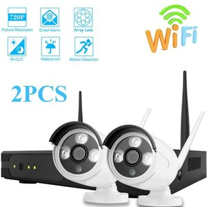 Surveillance System 720P 2CH Wifi CCTV System Video Surveillance Kit H.265 Waterproof Home Security Wireless Camera NVR Wifi