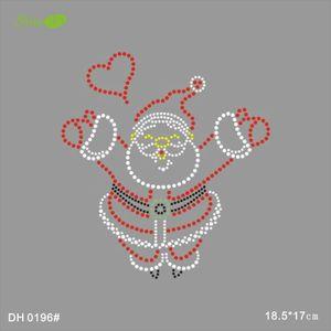 SRhinestone motif anta Claus fix rhinestone designs DIY DH0196#