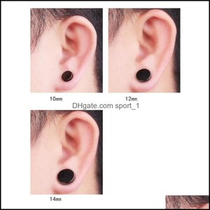 Jewelrystainless Hypoallergenic Magnetic Stud Earrings For Mens Punk No Pierced Black Clip Ear Ring Fashion Titanium Steel Jewelry 285 Drop