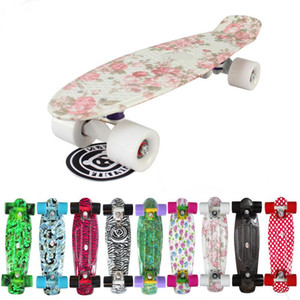 HOT sales Mini Cruiser Board Plastic Skateboard 22