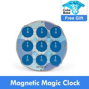 Shengshou ساعة magle magnetic speed magic cube لغز cubo magico ntelligence اللعب للأطفال l0226