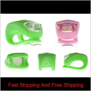 Sile Bicycle Cycling Head Light Front Rear Wheel Led Flash Bicycle Light Lamp Include The Battery Wir qylerq hairclippers2011
