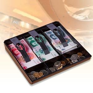 3 شبكة المال نقدا عملة تسجيل الصندوق مربع إدراج صينية تخزين درج المنظم 210315