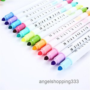 Two-headed Set Student letterhead Notebook Decoration Light Colour marker pen