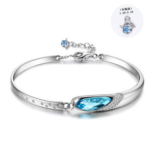 12 constellation couple hot jewelry 925 sterling silver bracelet Eye of the Muse bracelet with Austrian crystal bracelet for women