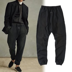 Autumn Winter USA Europe 7th Leather Logo Pocket Pants Trousers Casual Men Women Cement White String Joggers Sweatpants