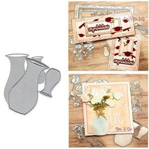 Painting Supplies Flower Arrangement Jar Metal Cutting Dies For Scrapbooking DIY Holiday Card Fustelle Metalliche Arrival