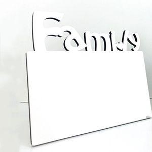 خشبي التسامي إطار الصورة فارغة ثلاثة الأبعاد الجوف إلكتروني الأسرة إطار الصورة المنزل الإبداعية الديكور الحلي HWF5705