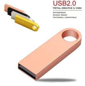 8GB 32GB 64GB 128GB USB2.0 Key Chain Stainless Steel rotat Swivel USB Flash Drives PenDrives Storages