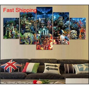 5 Piece Print Poster Iron Maiden Band Paintings On Canvas Wall Art For Home Decorations Wall Decor Unique G qylLgI bdetoys