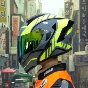 Off-road motorcycle helmets for men and women electric motorcycle open face helmet full face helmet helmet personality winter locomotive
