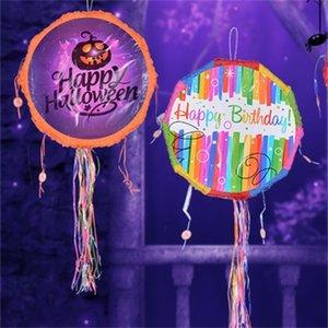 Pinata Thème d'anniversaire Papier Plié Enfants Favors Game Cadeaux Jouets Jouets Enfants Anniversaire Halloween Party Cadeaux Decoration Fournitures DIY Y201006