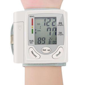 자동 손목 혈압 모니터 Tonometer 미터 디지털 LCD 화면 휴대용 건강 관리 혈압계 전세계 판매