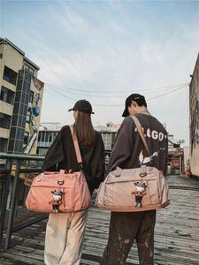 New canvas men's and women's travel shoe large capacity cross body sports handbag fitness bag O2LO