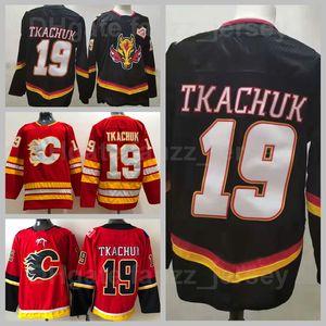 Calgary Flames Reverse Retro 19 Matthew Tkachuk Jerbe Heritage Klassiker Eishockey Alle genähten Team Rot weg Weiß Schwarz Farbe Atmungsaktiv hohe Qualität