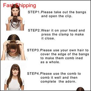 100% Real Human Hair Clip In Bangs Clip On Bangs Extension Hand Tied Hair E qylBxJ hjfeeling